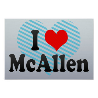 I Love McAllen, United States Poster