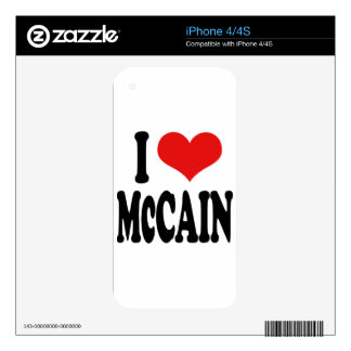 I Love McCain Decals For iPhone 4S