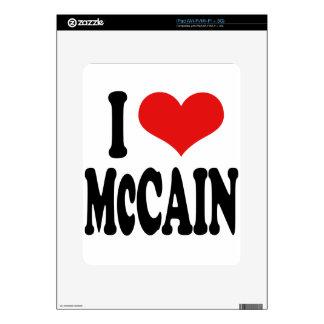 I Love McCain Decal For The iPad