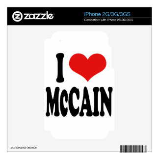 I Love McCain Decal For iPhone 2G
