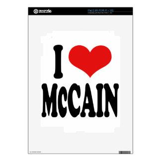 I Love McCain Skins For iPad 2