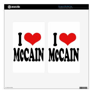 I Love McCain Skins For Kindle Fire