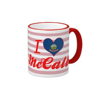 I Love McCall, Idaho Ringer Coffee Mug