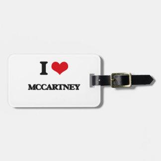 I Love Mccartney Luggage Tags