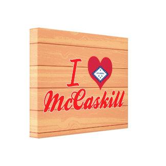 I Love McCaskill, Arkansas Stretched Canvas Prints