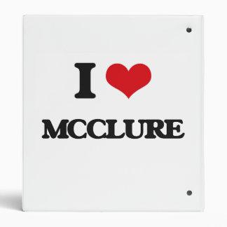 I Love Mcclure 3 Ring Binders