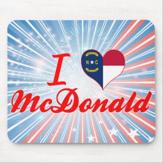 I Love McDonald, North Carolina Mousepads