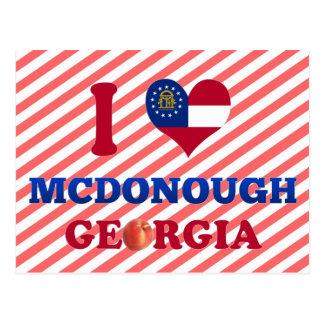 I Love McDonough, Georgia Postcards