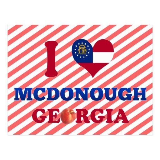 I Love McDonough, Georgia Postcard