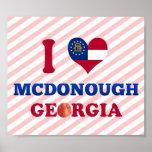 I Love McDonough, Georgia Poster