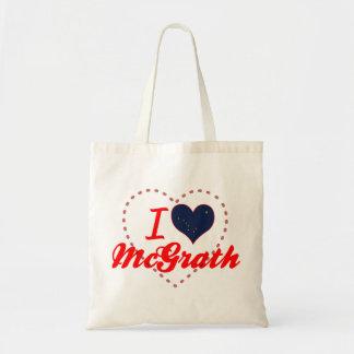 I Love McGrath, Alaska Canvas Bag