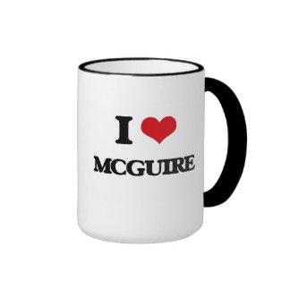 I Love Mcguire Ringer Coffee Mug