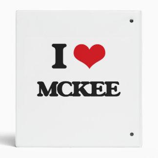 I Love Mckee Vinyl Binder