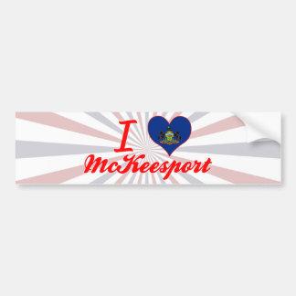 I Love McKeesport Pennsylvania Bumper Stickers