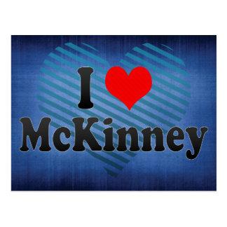 I Love McKinney, United States Postcard