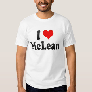 I Love McLean, United States T-shirt