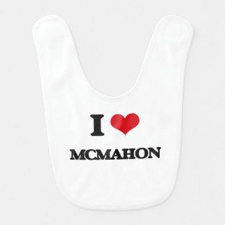 I Love Mcmahon Bib