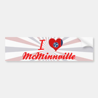 I Love McMinnville, Tennessee Car Bumper Sticker