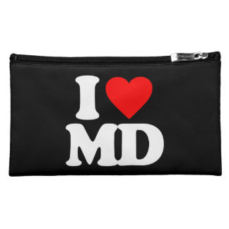 I LOVE MD COSMETIC BAGS