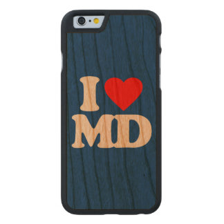 I LOVE MD CARVED CHERRY iPhone 6 CASE