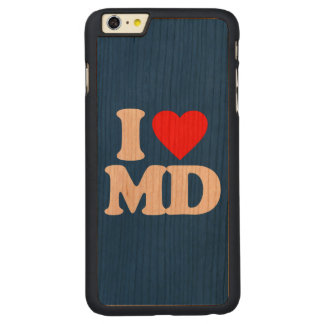 I LOVE MD CARVED CHERRY iPhone 6 PLUS SLIM CASE