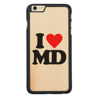 I LOVE MD CARVED MAPLE iPhone 6 PLUS CASE