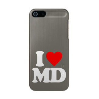 I LOVE MD METALLIC PHONE CASE FOR iPhone SE/5/5s