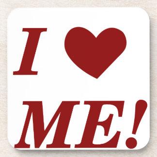 I Love Me - Dark Red Coasters