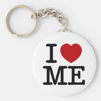 I Love Me Heart Me self esteem confidence dignity Basic Round Button Keychain