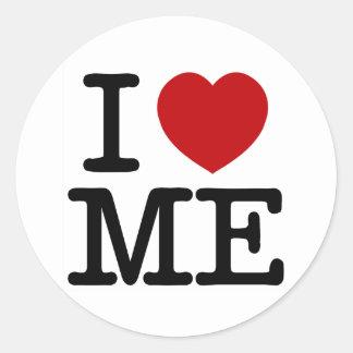 I Love Me Heart Me self esteem confidence dignity Classic Round Sticker