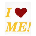 I Love Me - Light Orange Custom Letterhead