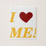 I Love Me - Light Orange Jigsaw Puzzle