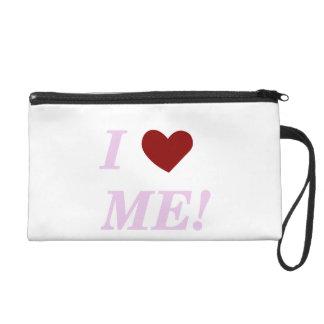 I Love Me - Pink Wristlet