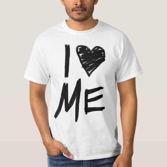 I Love Me, Scribbled Heart T-Shirt