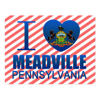 I Love Meadville, PA Postcard