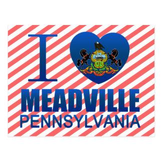 I Love Meadville, PA Postcards