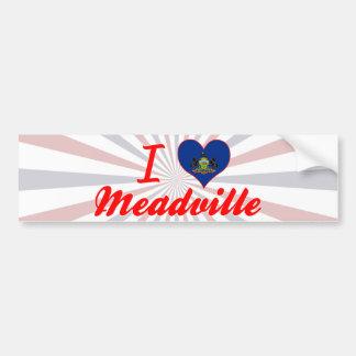 I Love Meadville Pennsylvania Bumper Sticker