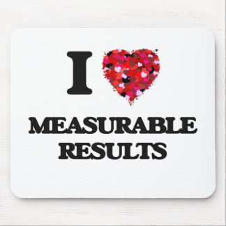 I Love Measurable Results Mouse Pad