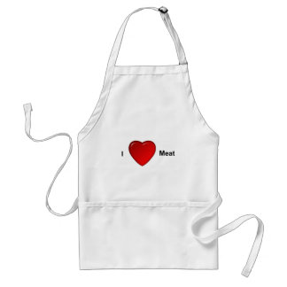 I love meat adult apron