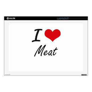 I Love Meat artistic design Skin For Laptop