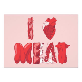 I Love Meat BBQ Invitation