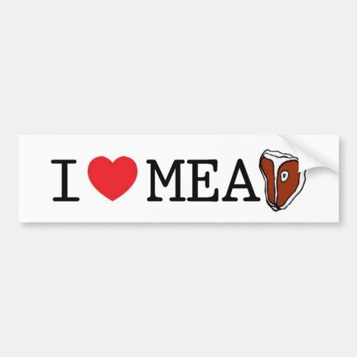 I Love Meat Car Bumper Sticker
