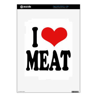I Love Meat Decal For iPad 2