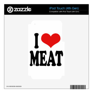 I Love Meat Decals For iPod Touch 4G