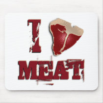 I Love Meat Mouse Pad