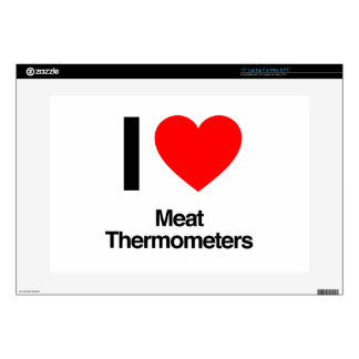 i love meat thermometers laptop skins