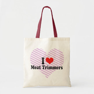 I Love Meat Trimmers Canvas Bag