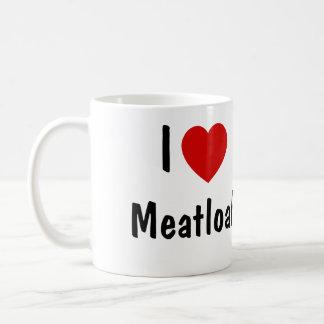 I Love Meatloaf Classic White Coffee Mug