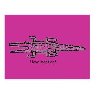 i love meatloaf postcard