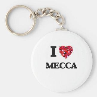 I Love Mecca Basic Round Button Keychain